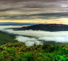 Wentworth falls Jamison lookout by donnnnnny