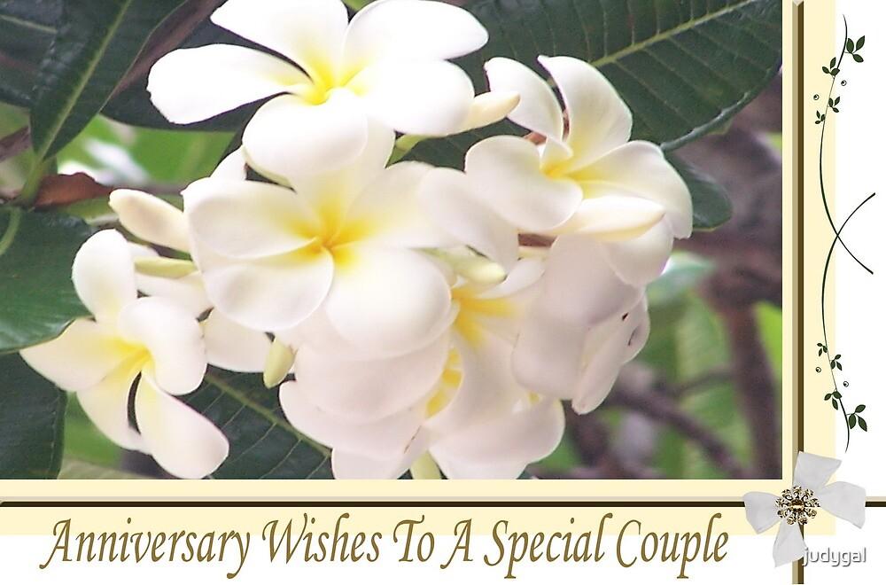 Frangipani Anniversary Card by judygal