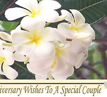 Frangipani Anniversary Card by judygal