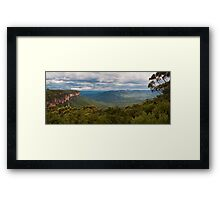 Jamison Valley from Wentworth Falls Lookout Framed Print