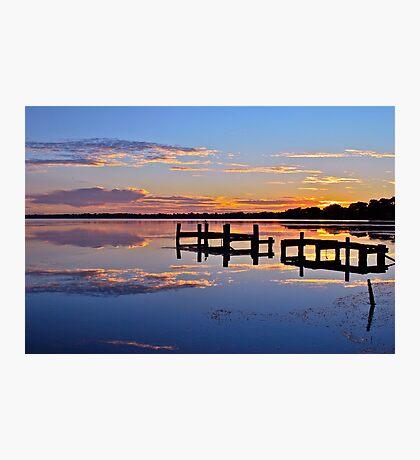 Sunrise on lake.  11-2-11 Photographic Print
