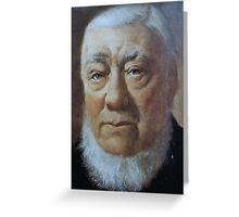 A MAN OF VISION - PAUL KRUGER Greeting Card