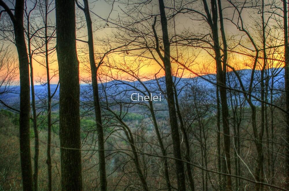 Sundown at Amicalola Falls, Dawsonville, GA by Chelei