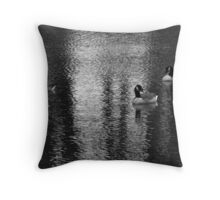 Geese at Lake Throw Pillow