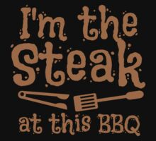 I'm the STEAK at this BBQ Kids Tee