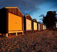 Dixons Beach Boatsheds by Chris Cobern