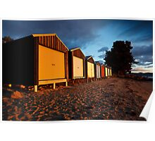 Dixons Beach Boatsheds Poster