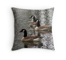 Geese on the Lake Throw Pillow
