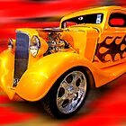 Yellow hot rod by Hans Kawitzki