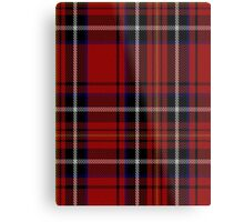 00418 Cornish Brewery Red Tartan  Metal Print