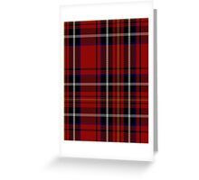 00418 Cornish Brewery Red Tartan  Greeting Card