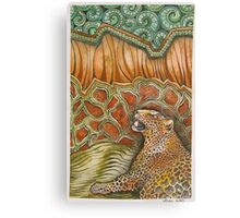 Leopard in the Jungle Canvas Print