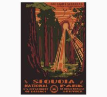 Sequoia alien invasion national park poster by Leo Rolph