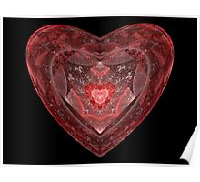 Ruby Glass Heart Poster