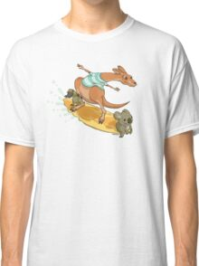 Surfing kangaroo and friends Classic T-Shirt