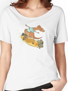 Surfing kangaroo and friends Women's Relaxed Fit T-Shirt