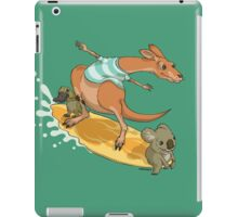 Surfing kangaroo and friends iPad Case/Skin