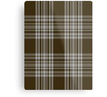 00422 Menzies Brown & White Tartan  Metal Print