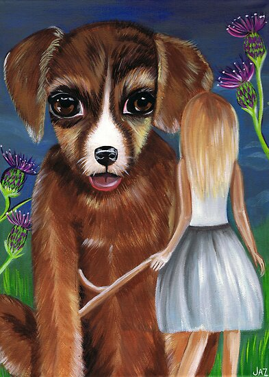 """""""Alice and The Puppy""""  by Jaz Higgins"""