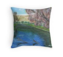 Riverscape Throw Pillow