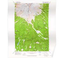USGS Topo Map Oregon Timberline Lodge 281835 1962 24000 Poster
