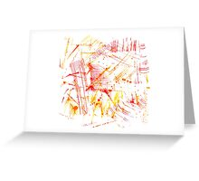 Watercolor abstract strokes Greeting Card
