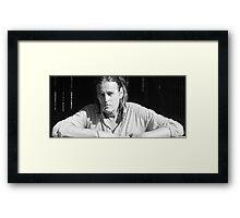 a portrait , Framed Print