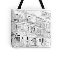 Streetscape Singapore Tote Bag