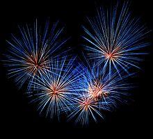 Firework at Brockham by Nigel  Dean