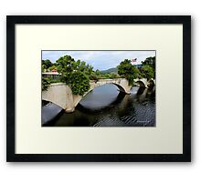 The Bridge of Flowers ~ A Rustic Beauty Framed Print