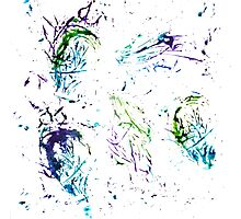 Watercolor abstract strokes Photographic Print