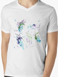 Watercolor abstract strokes Mens V-Neck T-Shirt