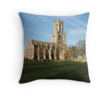 Fotheringhay Church Throw Pillow