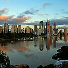 Brisbane River and City at dawn. Queensland, Australia.(6) by Ralph de Zilva