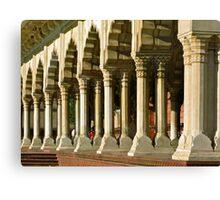 Waiting at the columns-Agra, India Canvas Print