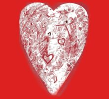 HEART  LOVE IS    T SHIRT/STICKER by Shoshonan