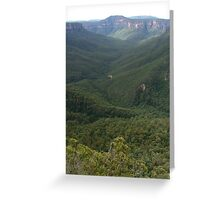 The Grose Valley from Evan's Lookout Greeting Card