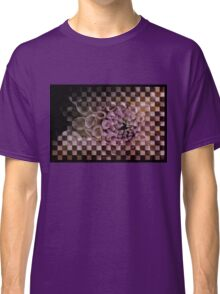 Dahlia in pink, checkered (T-Shirt) Classic T-Shirt