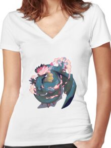 DRAGON CLAW Women's Fitted V-Neck T-Shirt