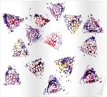 Watercolor Abstract Stain Poster