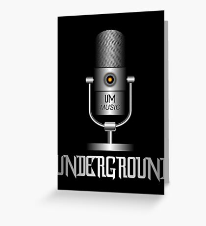 Underground Music Greeting Card