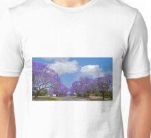 Jacaranda Blue, Grafton, NSW. Unisex T-Shirt