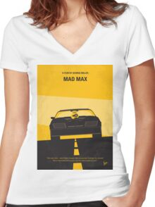 No051 My Mad Max 1 minimal movie poster Women's Fitted V-Neck T-Shirt
