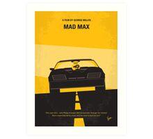 No051 My Mad Max 1 minimal movie poster Art Print