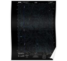USGS Topo Map Oregon Castle Rock 20110908 TM Inverted Poster