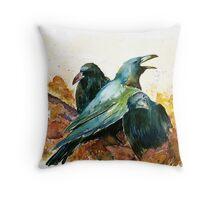 3 Ravens Throw Pillow