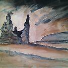 'Sawley Abbey, Lancashire' by Martin Williamson (©cobbybrook)