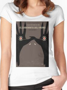 No061 My Pans Labyrinth minimal movie poster Women's Fitted Scoop T-Shirt