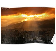 Quito Sunset Poster