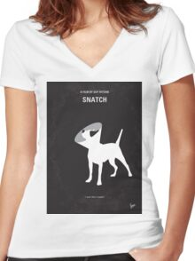 No079 My Snatch minimal movie poster Women's Fitted V-Neck T-Shirt